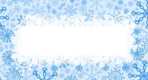 Cartão de Natal azul ilustração stock