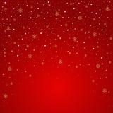 Cartão de Natal bolas, flocos de neve, árvore ilustração stock