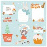 Cartão de Natal bonito Fotos de Stock Royalty Free