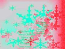 Cartão de Natal bonito com formulários da neve Fotos de Stock