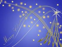 Cartão de Natal bonito com formulários das estrelas Foto de Stock Royalty Free