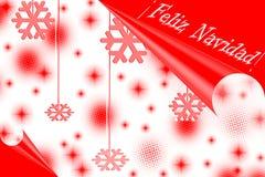 Cartão de Natal bonito com neve Imagem de Stock Royalty Free