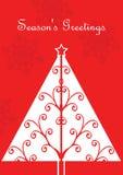 Cartão de Natal com árvore Imagem de Stock