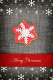 Cartão de Natal com biscoito da estrela Fotos de Stock Royalty Free