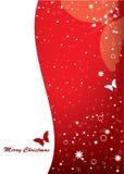 Cartão de Natal com borboleta Fotografia de Stock Royalty Free