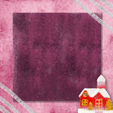 Cartão de Natal com casa da neve. Copie o espaço Fotos de Stock Royalty Free
