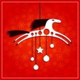 Cartão de Natal com cavalo Imagens de Stock Royalty Free
