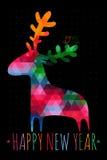 Cartão de NATAL com cervos coloridos Fotografia de Stock