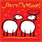 Cartão de Natal com colorido Fotografia de Stock