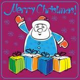 Cartão de Natal com colorido Foto de Stock