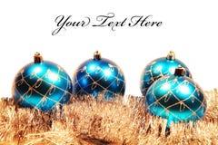 Cartão de Natal com decorações da Natal-árvore Fotografia de Stock