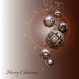 Cartão de Natal com decorações do Natal Fotografia de Stock Royalty Free