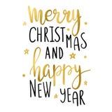 Cartão de Natal com decorrations e cumprimentos eps10 Fotografia de Stock