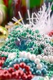 Cartão de Natal com diamantes, decoração do ano novo, fim acima Foto de Stock