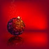 Cartão de Natal com a esfera do Natal das estrelas. EPS 8 Fotos de Stock Royalty Free
