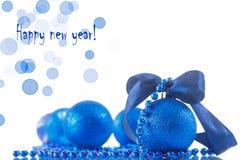 Cartão de Natal com esferas Fotos de Stock Royalty Free