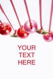 Cartão de Natal com esferas e estrelas Fotografia de Stock Royalty Free