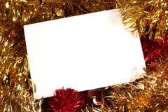 Cartão de Natal com espaço Fotos de Stock Royalty Free
