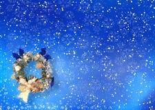 Cartão de Natal com espaço para desejos Fotografia de Stock Royalty Free