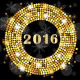 Cartão de Natal com números 2016 ilustração do vetor