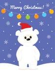 Cartão de Natal com o urso polar do bebê Imagem de Stock Royalty Free