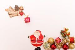 Cartão de Natal com Papai Noel Foto de Stock
