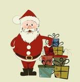 Cartão de Natal com Santa. ilustração do vetor