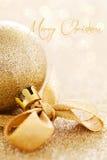 Cartão de Natal com texto Imagens de Stock Royalty Free