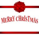 Cartão de Natal com um vetor vermelho da curva ilustração do vetor