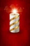 Cartão de Natal com uma vela Imagens de Stock