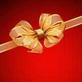 Cartão de Natal - curva transparente dourada Imagens de Stock Royalty Free