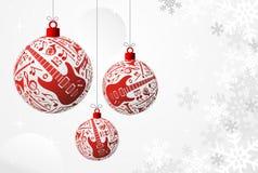 Cartão de Natal da música Fotos de Stock Royalty Free
