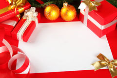 Cartão de Natal das felicitações Fotos de Stock