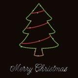 Cartão de Natal de Bling Fotografia de Stock Royalty Free