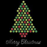 Cartão de Natal de Bling Fotos de Stock