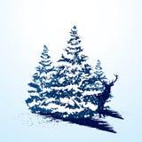 Cartão de Natal de Grunge ilustração stock