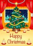 Cartão de Natal de Hapy Fotos de Stock Royalty Free