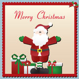 Cartão de Natal de Papai Noel Fotografia de Stock Royalty Free
