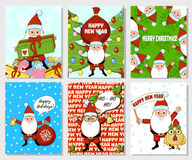 Cartão de Natal de Papai Noel Imagens de Stock Royalty Free