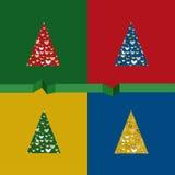 Cartão de Natal de papel Imagem de Stock Royalty Free