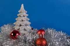 Cartão de Natal de prata fotografia de stock royalty free