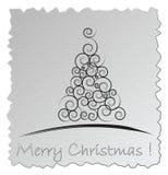 Cartão de Natal de prata Fotos de Stock