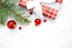 Cartão de Natal Decoração do Natal Fundo do Natal Fotos de Stock Royalty Free