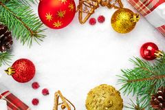 Cartão de Natal Decoração do Natal Fundo do Natal Imagem de Stock Royalty Free