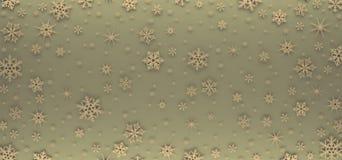 Cartão de Natal decorado com flocos de neve brancos Teste padrão para cumprimentos do Natal foto de stock