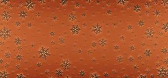 Cartão de Natal decorado com flocos de neve brancos Teste padrão para cumprimentos do Natal fotografia de stock royalty free
