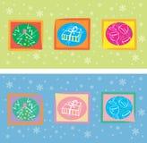 Cartão de Natal decorativo Fotografia de Stock Royalty Free