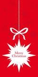 Cartão de Natal decorativo de suspensão da estrela Imagens de Stock Royalty Free
