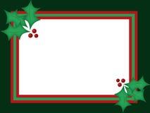 Cartão de Natal do azevinho Imagens de Stock