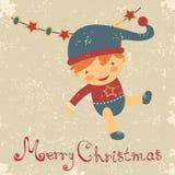 Cartão de Natal do bebê do vintage Imagem de Stock